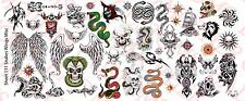 1/6 Scale Custom Tattoos: Snakes Wings and Skulls pack - Waterslide Decals