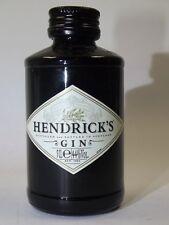 Hendricks Gin 50 ML 44% MINI BOTTIGLIA BOTTLE miniature bottela MIGNON bravi