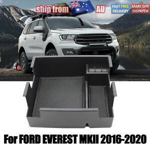 For Ford Everest 2016-2020 Black Armrest Storage Box Glove Box Tray Accessories