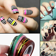 10X Mixed Color French Rolls Striping Manicure Nail Art DIY Neon Line Foil Tapes