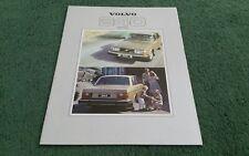 1979 VOLVO 240 244 SALOON DL GL GLE - UK BROCHURE Also Shows 245 Estate