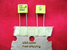 25 pcs  -  470pf  100v (0.47nf, .47nf)  WIMA  metalized poly  radial  capacitors