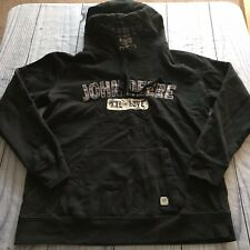 John Deere Hoodie, Medium, Black, Cotton Blend, Long Sleeve