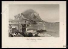 STAMPA ORIGINALE 1876 PALERMO MONTE PELLEGRINO