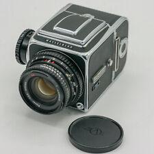 Hasselblad 500 CM 6x6 SLR + Carl Zeiss Planar T* 1:2,8 f=80mm +120 Magazine/Back