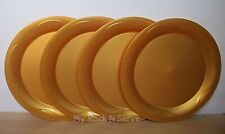 "Tupperware Open House Dinner Plates 11"" Set 4 Gold Color  New!!"
