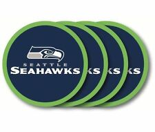 Seattle Seahawks Coaster Set - 4 Pack [NEW] NFL Drink Bar Man Cave Shot