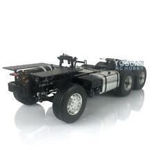 LESU 1/14 TAMIYA RC Scania 6*4 Chasis De Metal Motor de Coche Modelo 3Axle Camión Tractor