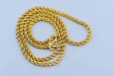 Vintage 20 kt gold chain necklace handmade gold chain gold jewelry