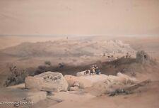 """David Roberts Hand Colored Lithograph """"Gaza, March 21st 1839"""" FINE & RARE!"""