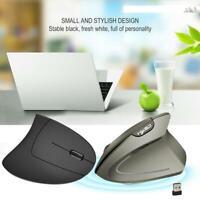 T24 Wireless Ergonomic Vertical Mouse 2400DPI 6 Keys Optical Mice for PC