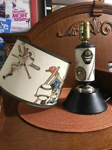 vintage baseball lamp
