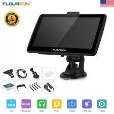7inch Car Gps Navigation Truck Navigator Lcd Touch Nav Sat 8Gb Fm Video+Free Map