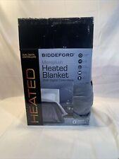 Biddeford Micro plush Heated Blanket Dual Digital Controllers