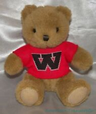 "Rare 4 Point 0 ROXBURY MILLS Plush 8"" WHITWORTH COLLEGE WU BEAR Red Logo Sweater"