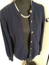 Glenmac Geelong lambswool navy blue cardigan L