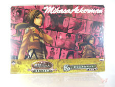 Attack on Titan Shingeki no Kyojin Desk Visual Mat Poster Mikasa Ackerman Kuji