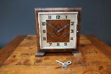 Reloj de Art Deco h.a.c (Alemania Hamburgo American Reloj Company) trabajando hac