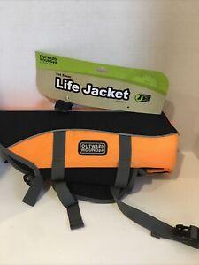 Outward Hound Pet Saver Life Jacket - Orange & Black Medium - Dogs 20-50 lbs NEW