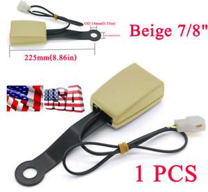 "1PCS Beige 7/8""Car Safety Seat Belt Buckle Socket Plug Connector W/Warning Cable"