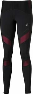 Asics Women's Running Tights Leg Balance Muscle Support Tights - Black/Pink -New