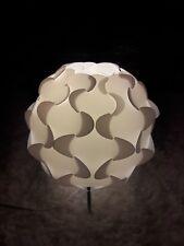 IKEA White Plastic Puzzle Table Lamp Soft Light Modern Lighting FILLSTA EUC USED