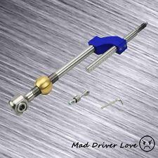 93-97 DEL SOL 88-91 CRX CIVIC STAINLESS STEEL BRASS ADJUST SHORT SHIFTER BLUE