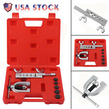Double Flaring Brake Line Tool Kit Tubing Car Truck W/ Adapter Automotive Tool B