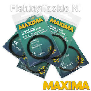 Maxima Tapered Leader Chameleon Butt to Ultragreen Tip 9ft & 12ft All Sizes Fish