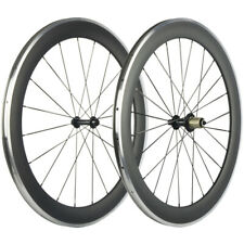 Aluminium Brake Surface 60mm Clincher Carbon Wheelset Road Bicycle Wheels Matte