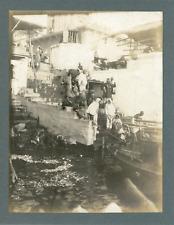 Inde, Lavoir près d'un débarcadère, ca.1910, vintage silver print Vintage s