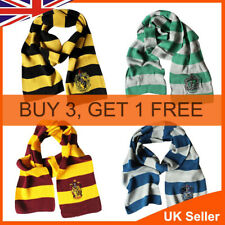 Harry Potter Scarf Knit Wrap Cosplay Gryffindor Slytherin Hufflepuff Ravenclaw