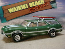 Waikiki Beach 1972 OLDSMOBILE VISTA CRUISER ✰green; surfboard✰loose Greenlight
