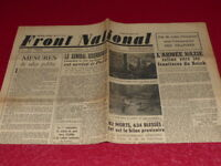 """[PRESSE WW2 39-45] """"FRONT NATIONAL"""" # 7 / 28 AOUT 1944 Libération Paris"""
