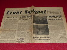 "[ Press WW2 39-45] "" Front National "" #7/28 August 1944 Release Paris"