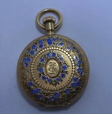 VACHERON & CONSTANTIN Pocket Watch Solid 18K Gold and Enameled Case 36mm