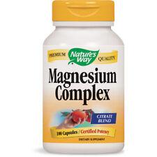 Nature's Way Calidad Premium Magnesio Complejo Citrato Mezcla - 100 Cápsulas