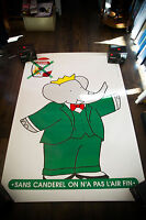 CANDEREL BABAR 4x6 ft Bus Shelter Original Vintage Advertising Poster 1999