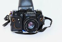 "ZENIT 11 EXPORT BLACK Edition Soviet SLR film camera w/s lens ""Helios 44M-4"" EXC"