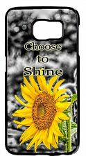 Sunflowers Cute Life Quote Flower Case Samsung Galaxy&Note Rubber TPU/Hard Cover