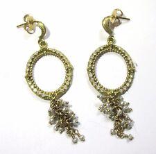Armenta 18K Yellow Gold Open Round Earrings w/ Diamonds