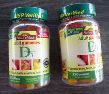Nature Made Vitamin D3 Adult Gummies, Strawberry, Peach & Mango 300 Ct 06/2020