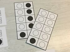 44 - Laminated Ten Frame - Dot Activity Cards Math Manipulatives Teacher Supply