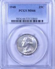 1948 Washington Quarter : PCGS MS66