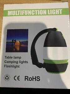 LED Desk Camping Home Office Table Lamp 3 Brightness Levels w USB Charging NEW