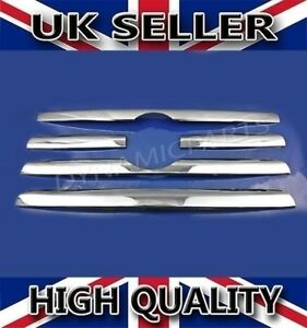 VW CRAFTER CHROME FRONT GRILL TRIM SET COVERS 5PCS KIT STAINLESS STEEL 2006-2011