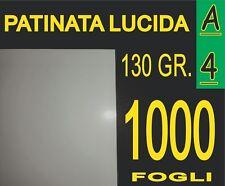 1000 FF Carta 130G fotografica PATINATA lucida x stampante laser A4 21X29,7CM