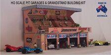 HO Scale Racing Pit Row Garage Grandstand Model Railway Building Kit HOPGWS