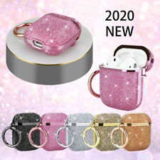 For Apple Airpods Pro 3 / 2 / 1 Luxury 3D Glitter Bling Hard Case Cover + Hook