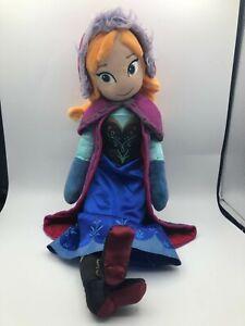 Official Disney Store Princess Anna Frozen Plush Kids Soft Stuffed Toy Doll Girl